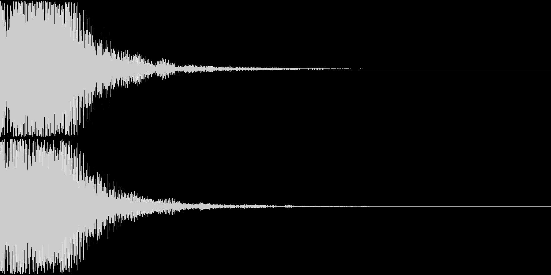 決定音01(ポロン)の未再生の波形