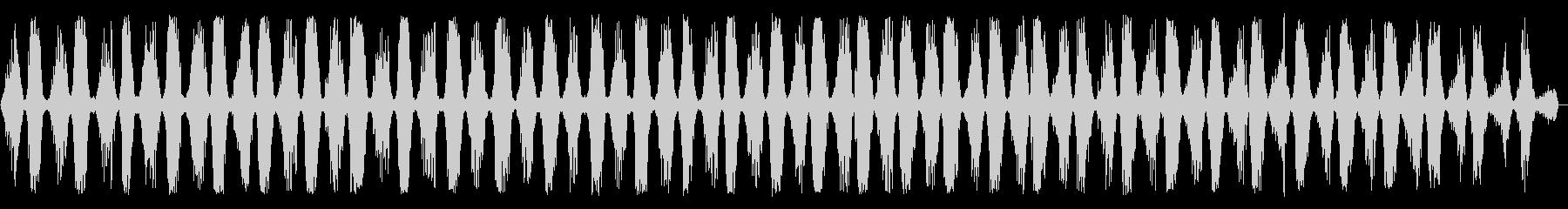 のこぎりの音(長め)の未再生の波形