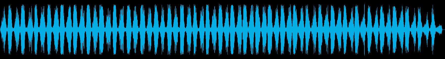 のこぎりの音(長め)の再生済みの波形