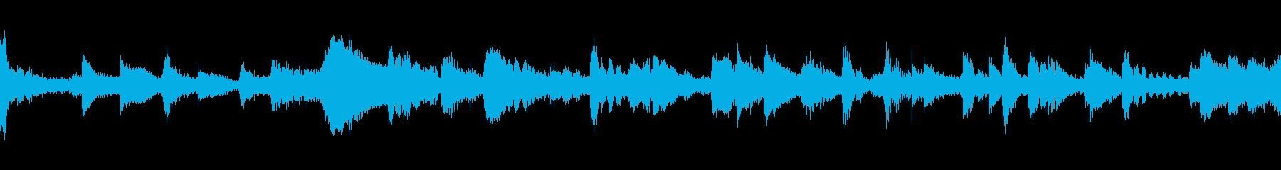 アコースティックベースとジャジーブ...の再生済みの波形