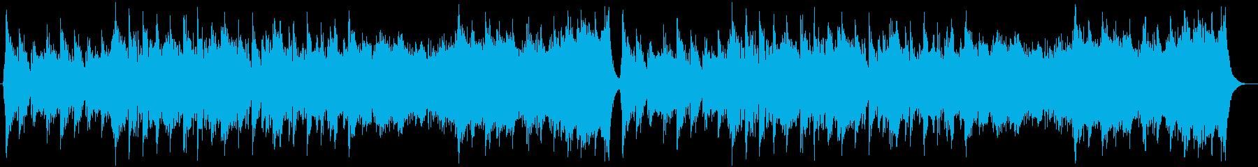 中華風の穏やかなBGMの再生済みの波形