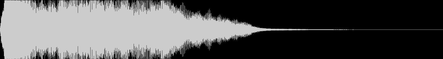 CINEMATICなタイトルロゴに是非の未再生の波形