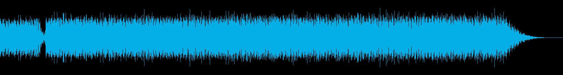 ジングルベルの4つ打ちダンス系シンプルの再生済みの波形