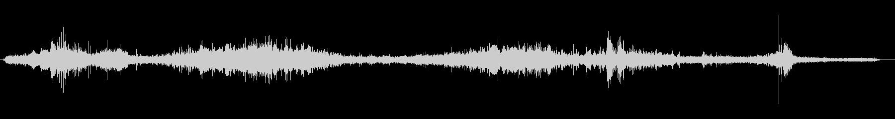 トラム-ライドの未再生の波形