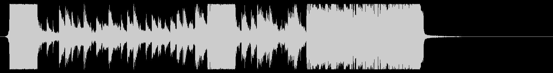 ホラー系EDMダブステップジングル06の未再生の波形
