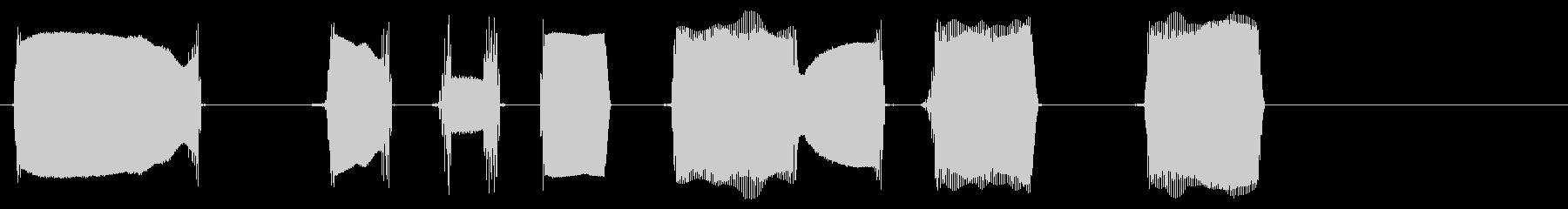 薄いピアスダイヤリングビープ音2の未再生の波形
