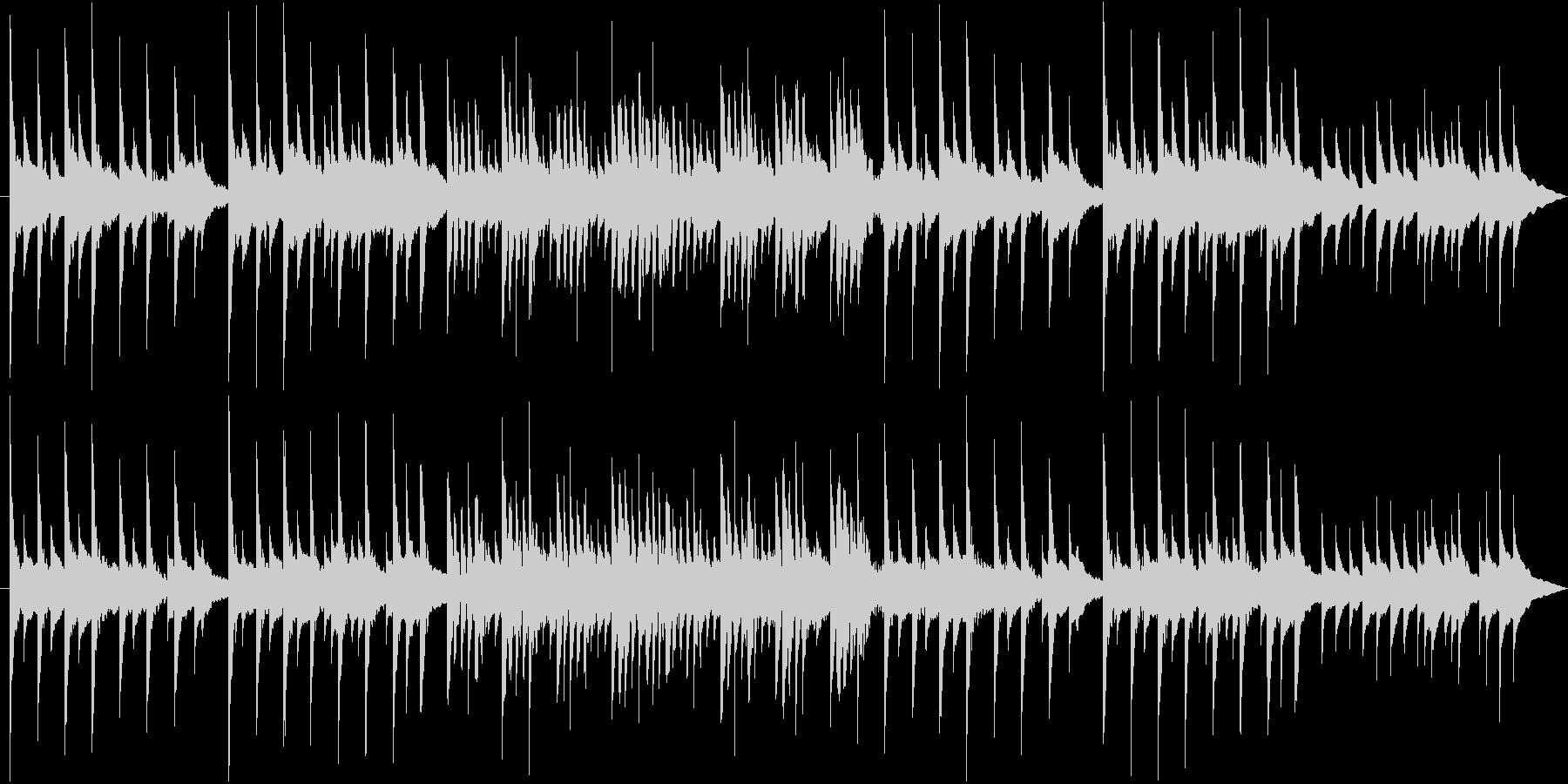 優しい子守唄のようなベルサウンドBGMの未再生の波形
