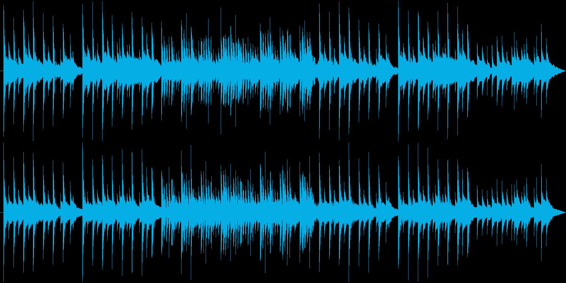 優しい子守唄のようなベルサウンドBGMの再生済みの波形