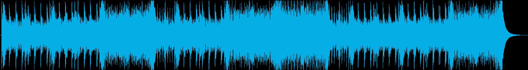 緊迫のバトル風壮大なオーケストラBGMの再生済みの波形