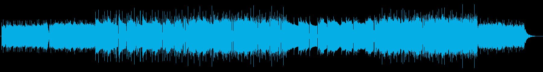 暖かい雰囲気のローファイヒップホップの再生済みの波形