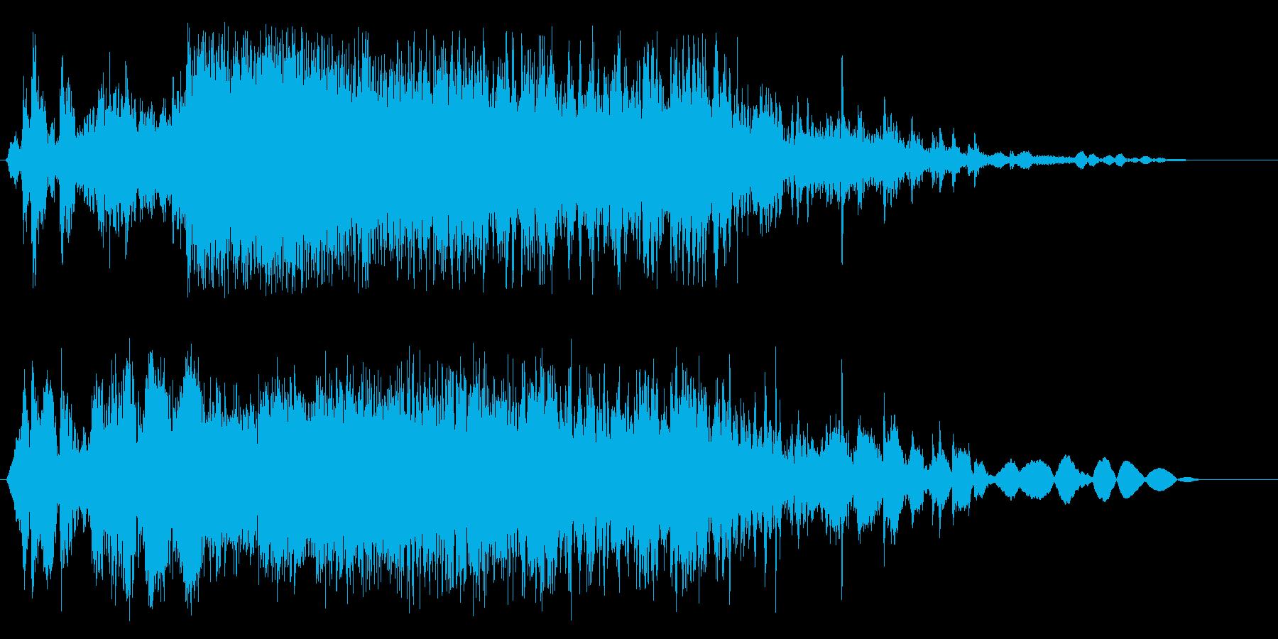 お米を入れる音の効果音の再生済みの波形
