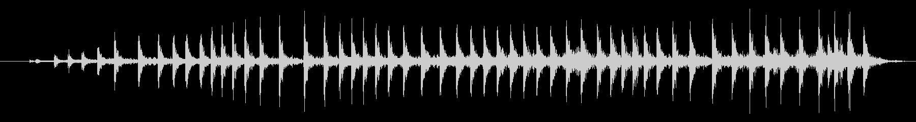 中程度のウッドプレッシャークリークの未再生の波形
