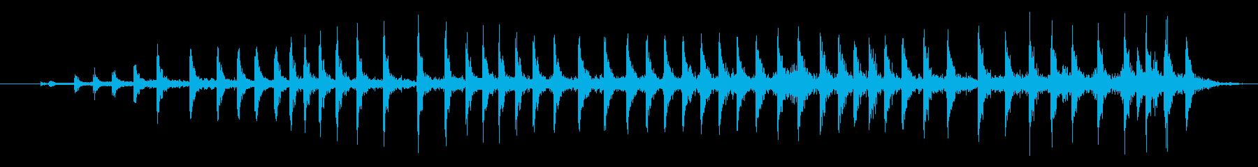 中程度のウッドプレッシャークリークの再生済みの波形