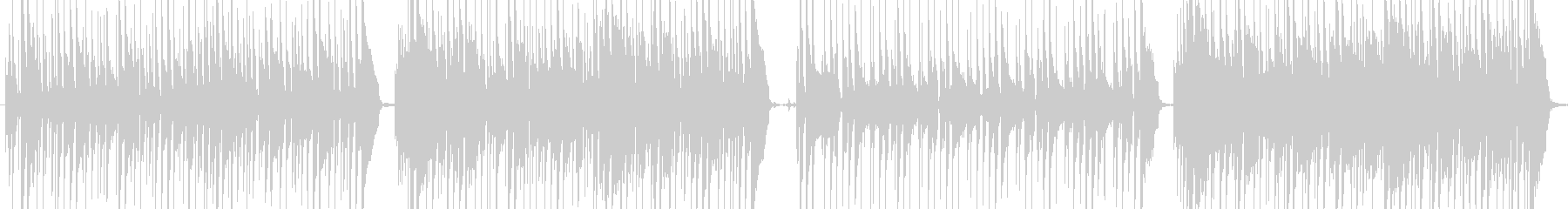 ワウギター主体の16ビートファンクの未再生の波形