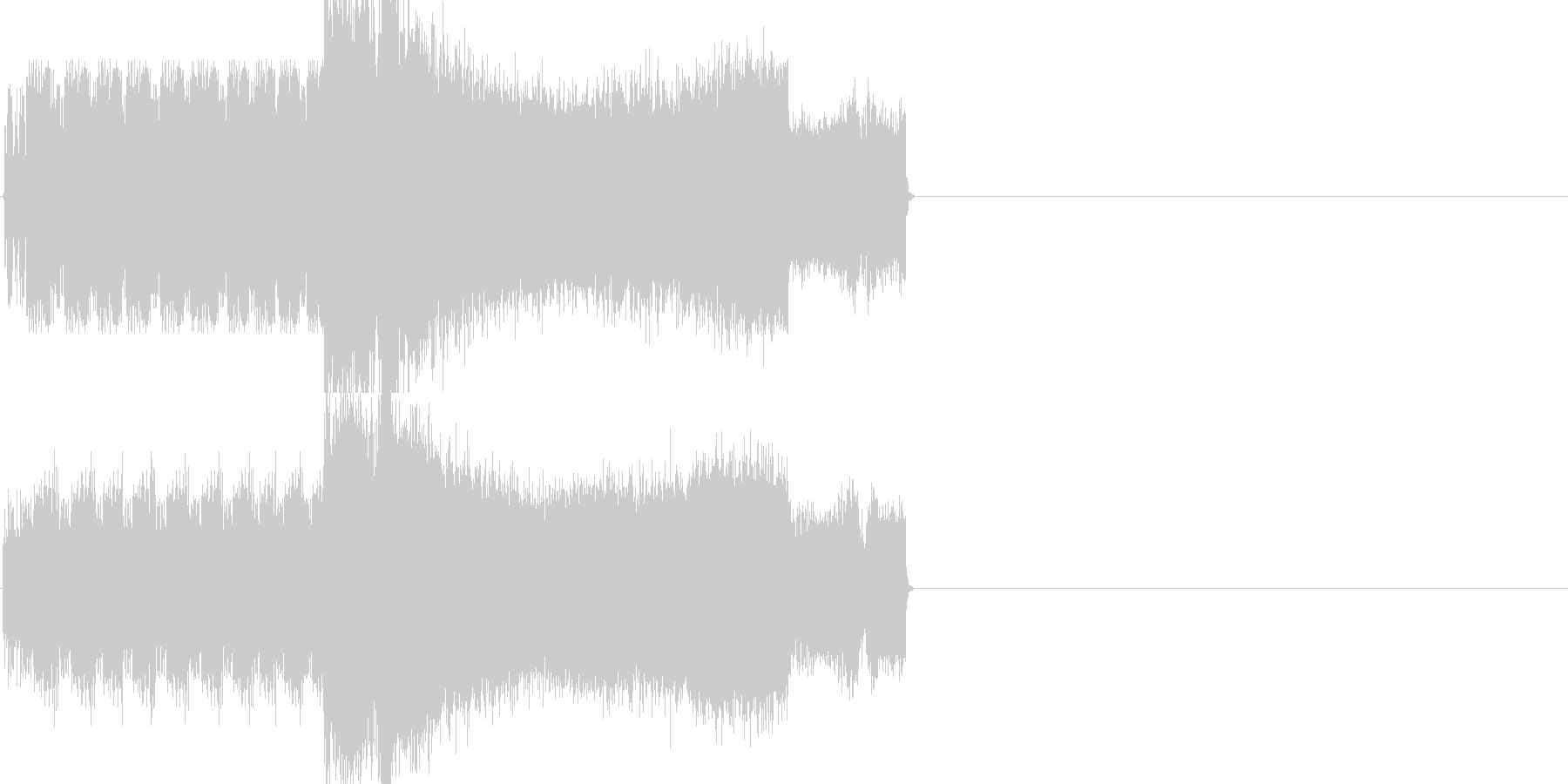 ラジオジングル制作キットの未再生の波形