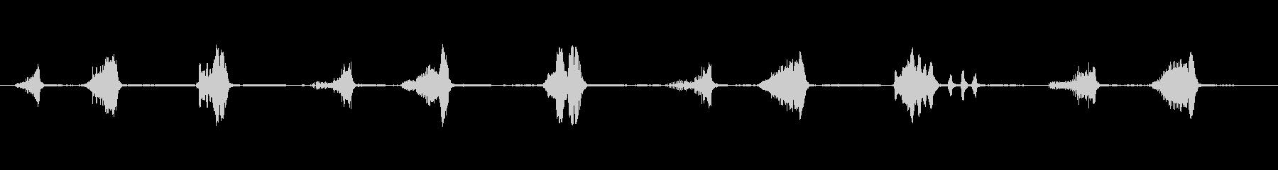 ザトウクジラ:水中コミュニケーショ...の未再生の波形