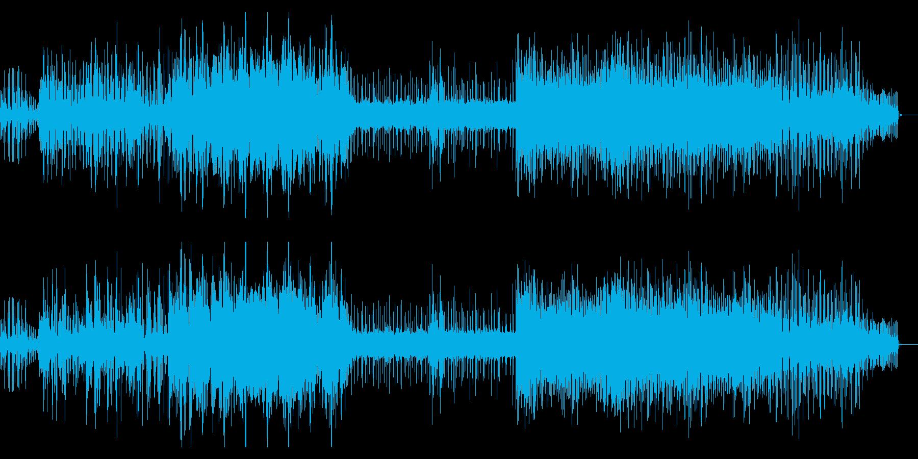 リズムのモタった独特なIDMの再生済みの波形