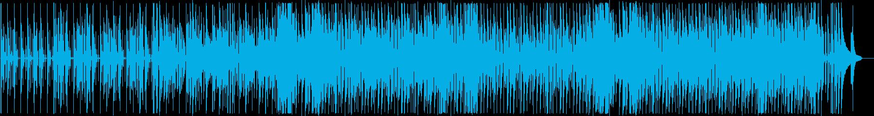 ノリのいいベースがうねる四つ打ちBGM!の再生済みの波形
