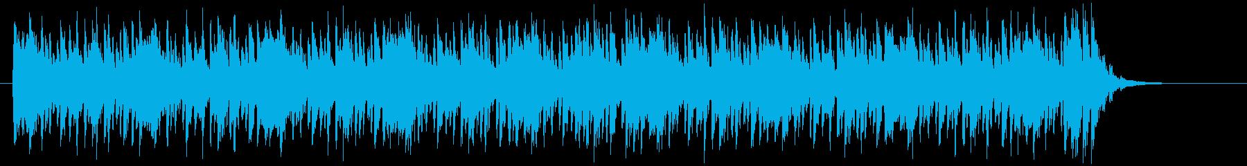 スピーディーで緩やかなシンセジングルの再生済みの波形