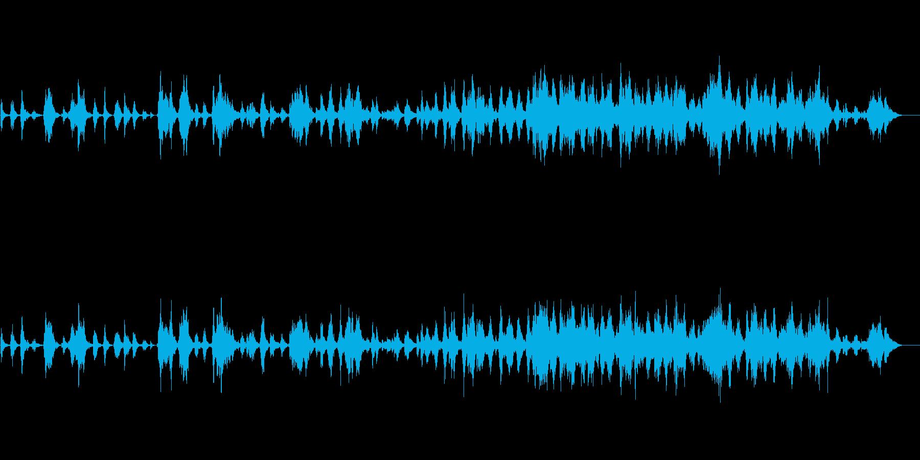 ピアノでドラマティックに盛り上げる曲の再生済みの波形