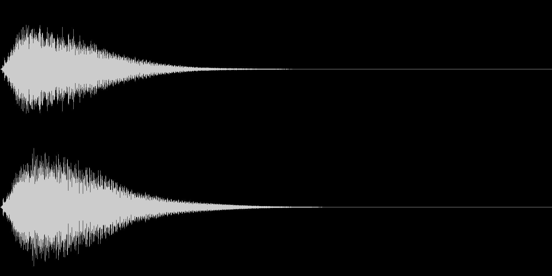 キュイン ボタン ピキーン キーン 4の未再生の波形