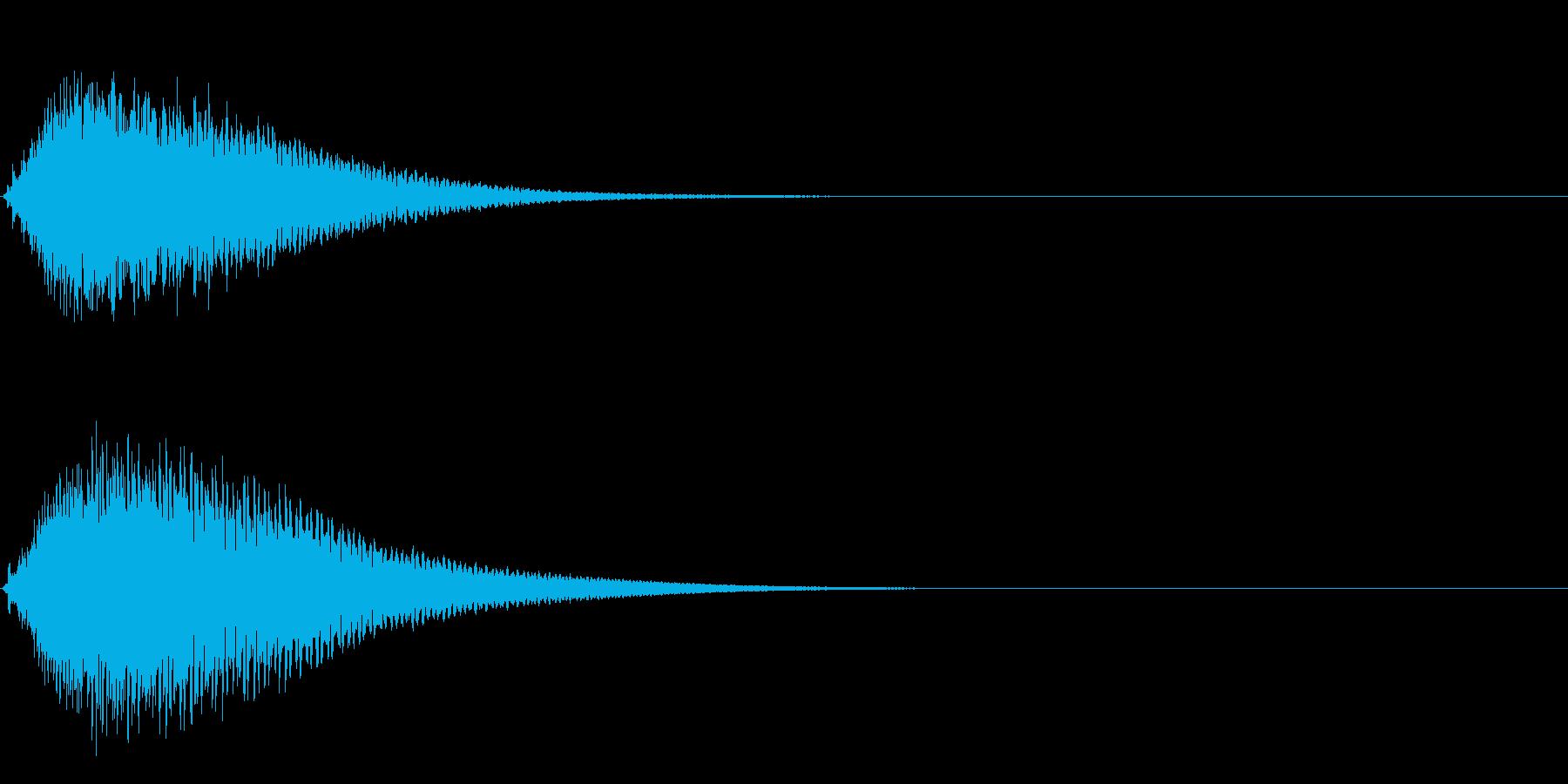 キュイン ボタン ピキーン キーン 4の再生済みの波形