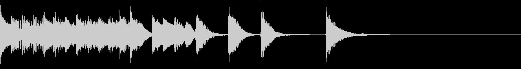 明るく かわいいピアノサウンドロゴ01の未再生の波形