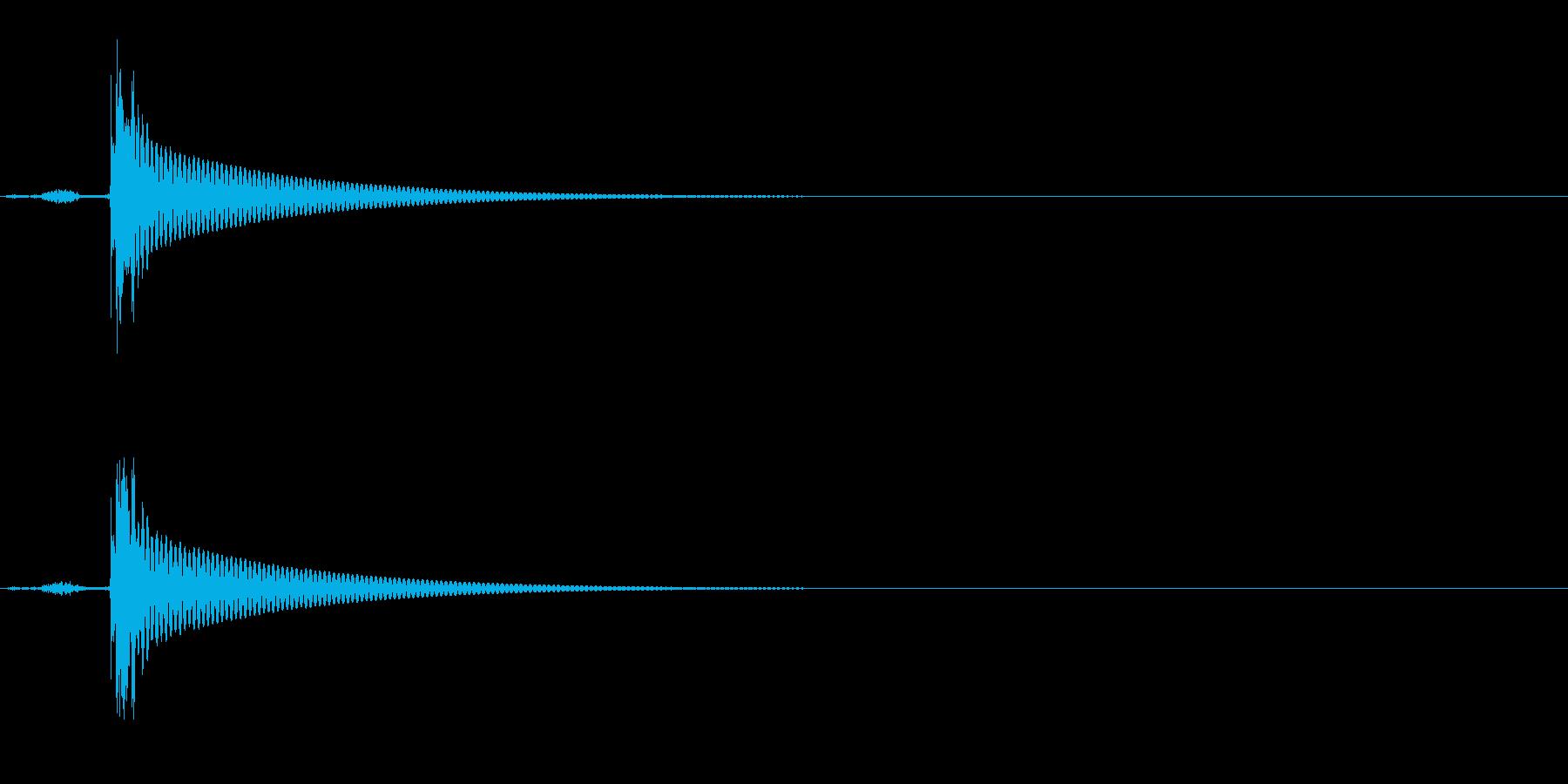 ワインボトルを開ける音(音程低め)の再生済みの波形