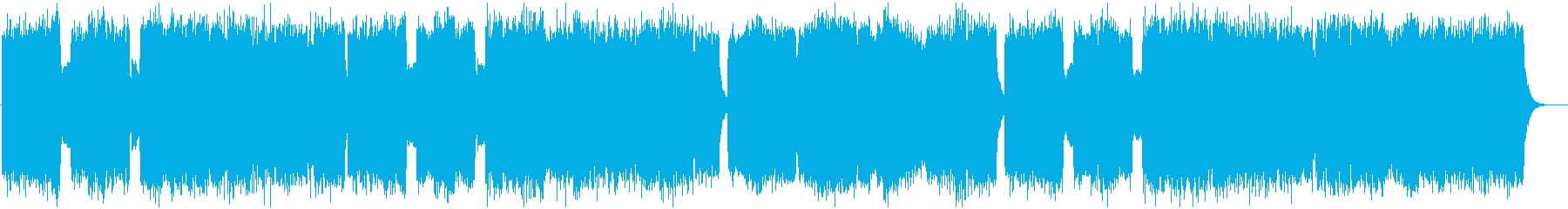 Extensive church style BGM's reproduced waveform
