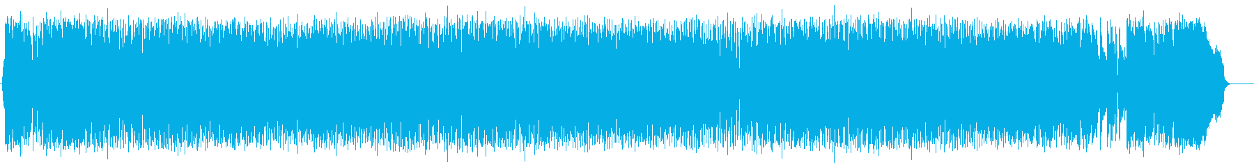 透明感のある澄んだ音色のオーケストラ曲の再生済みの波形