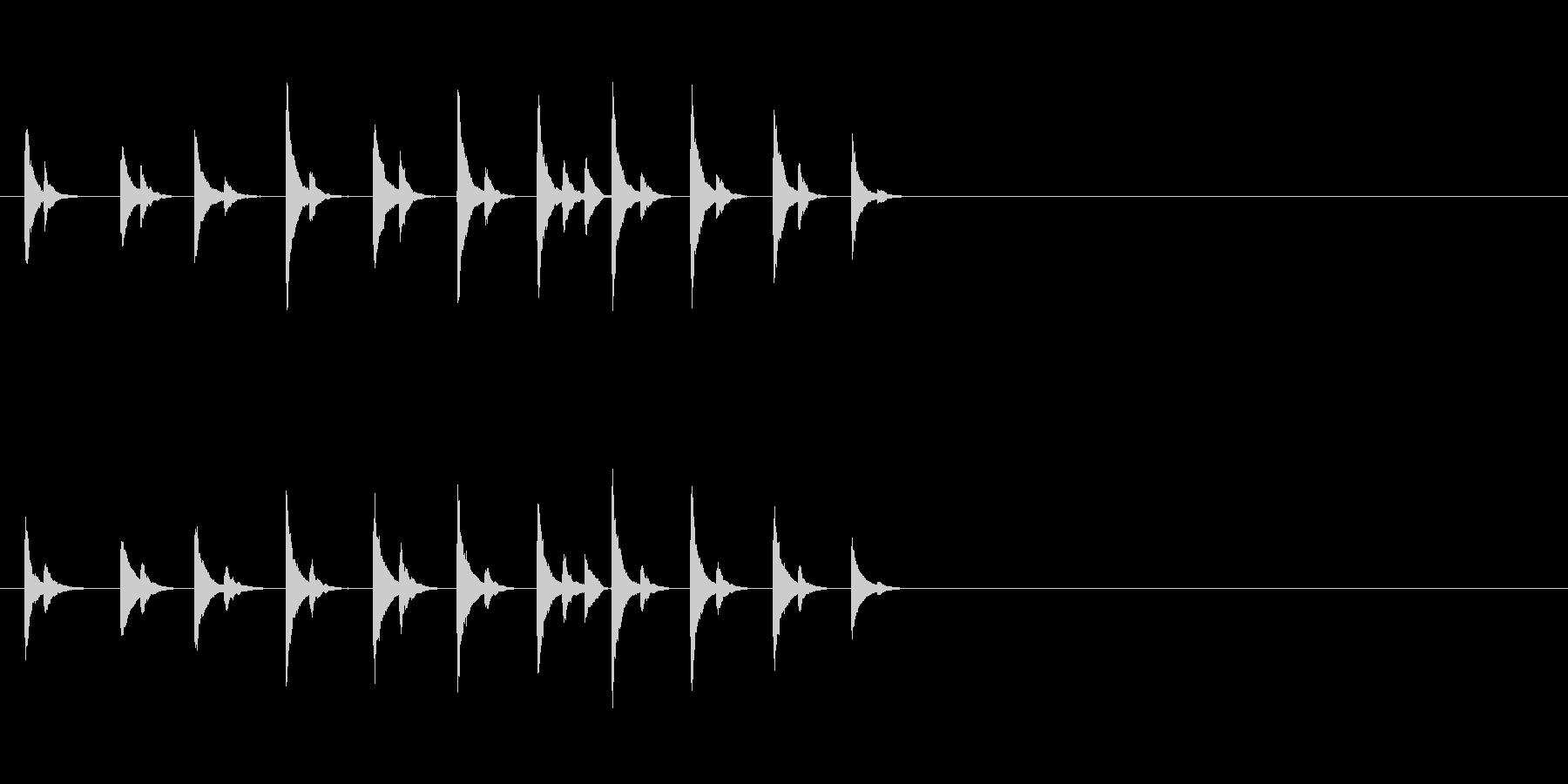 カンカンカン!ある飾り物の金属音の未再生の波形
