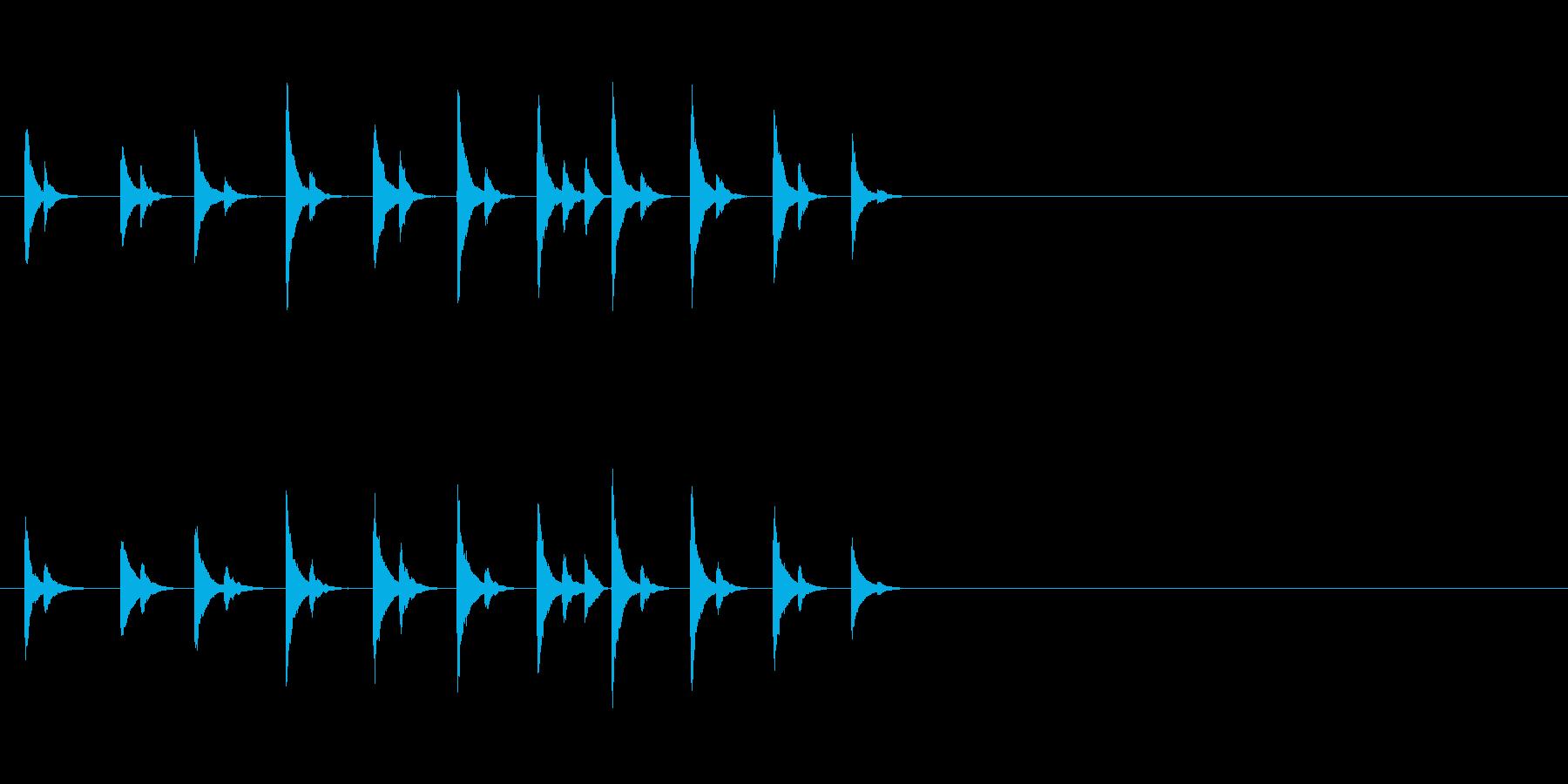 カンカンカン!ある飾り物の金属音の再生済みの波形