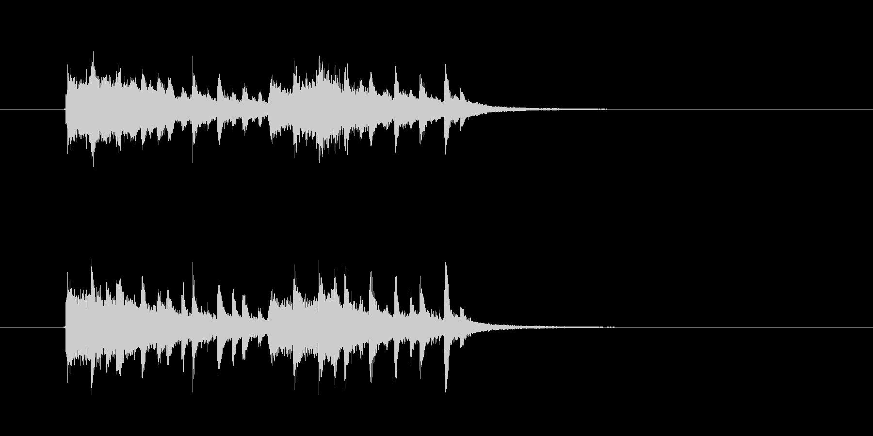 幻想的でキャッチ―なシンセジングルの未再生の波形