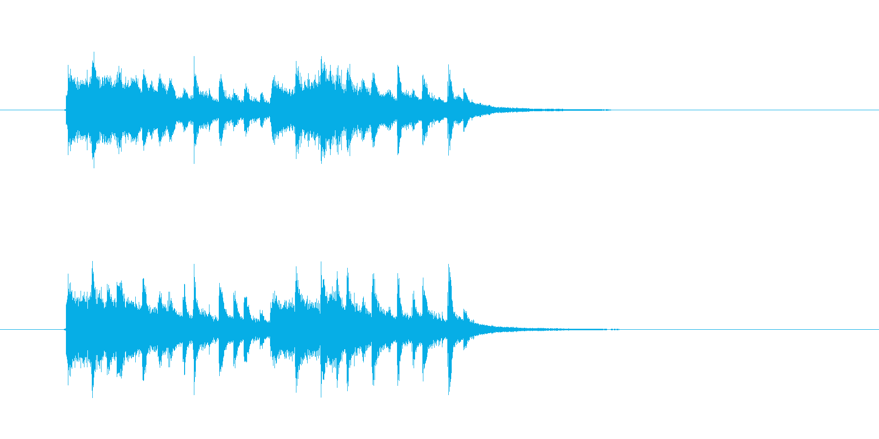 幻想的でキャッチ―なシンセジングルの再生済みの波形
