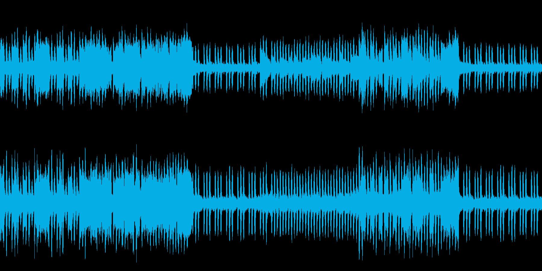 ざわめく森林の松ぼっくりの再生済みの波形