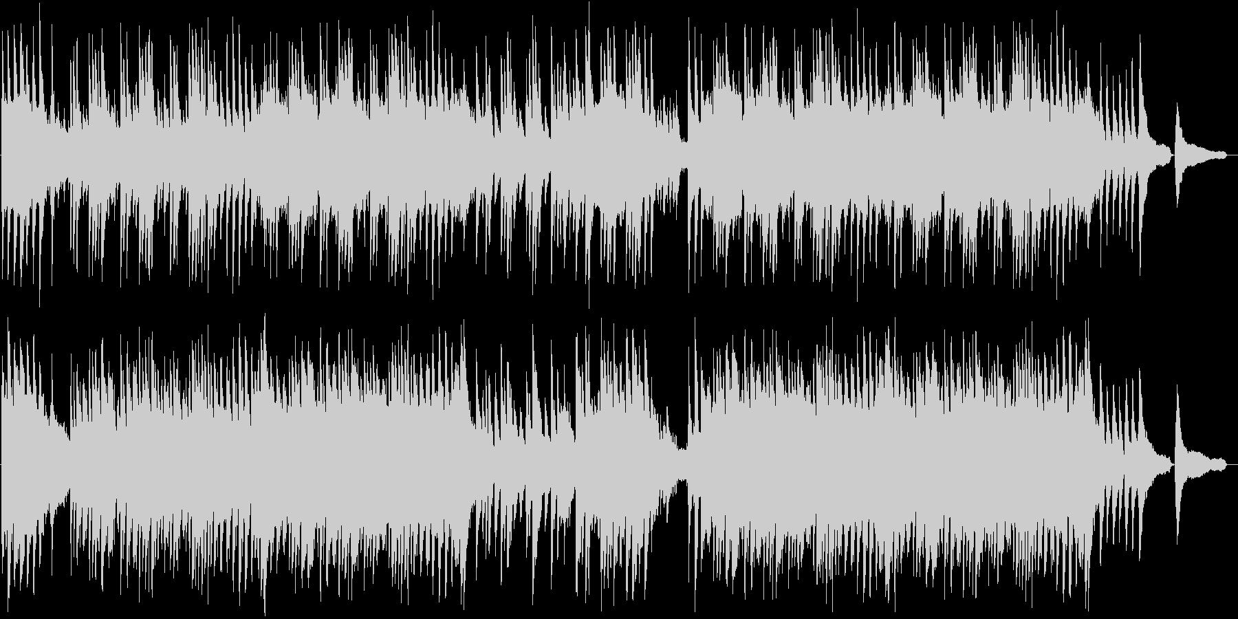 美しい和風バラードBGMの未再生の波形