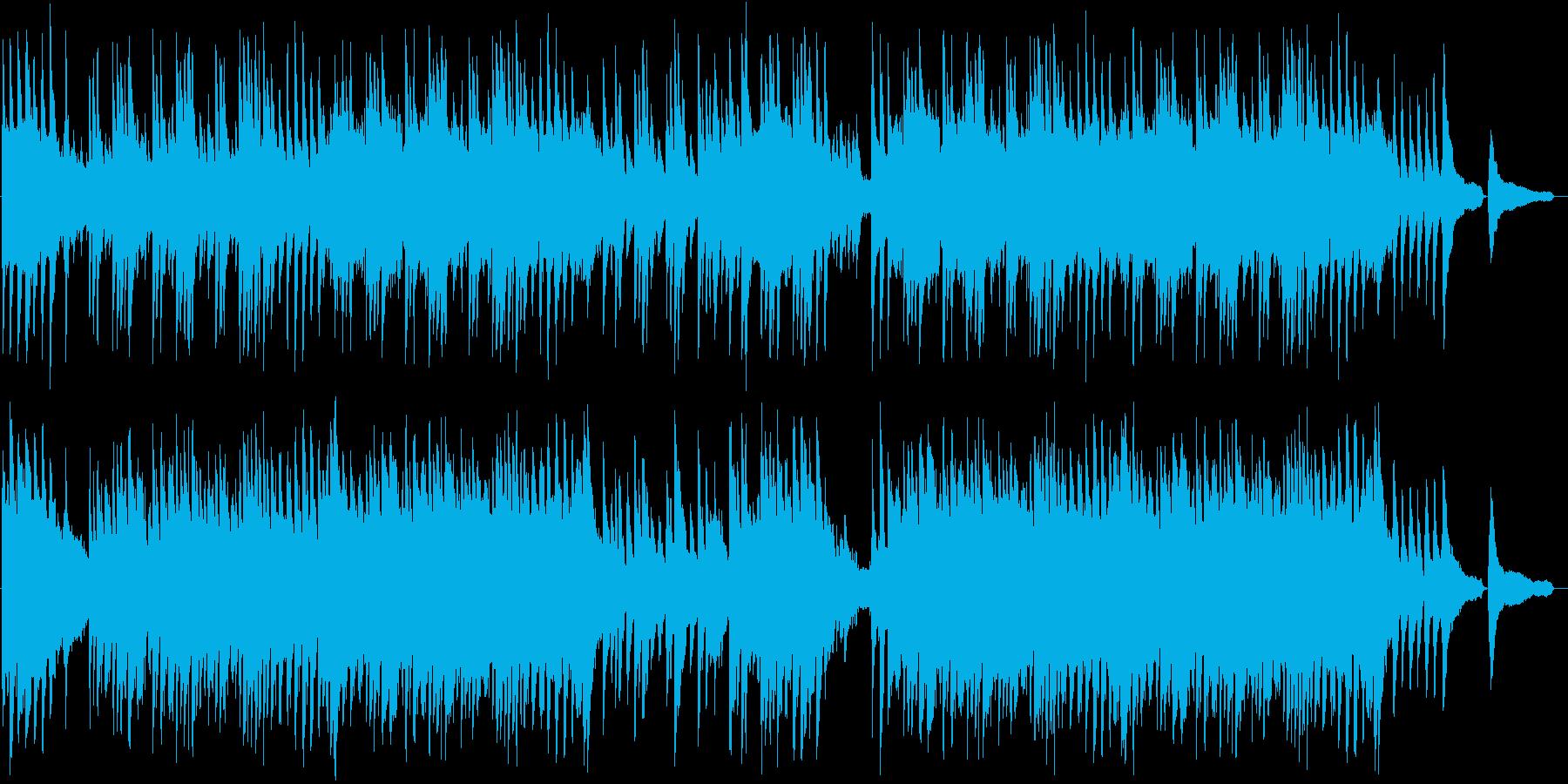 美しい和風バラードBGMの再生済みの波形