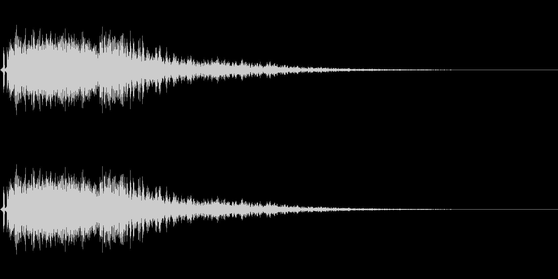 爆発音。電流系爆破。の未再生の波形