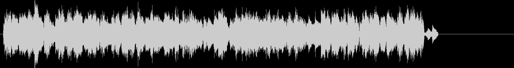 パソコンでネットワーク通信をしている音の未再生の波形