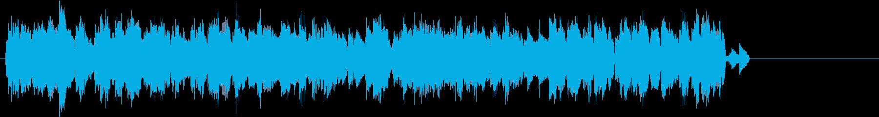 パソコンでネットワーク通信をしている音の再生済みの波形