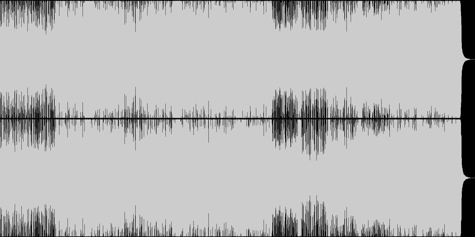 疾走感あるデジタルロックの未再生の波形
