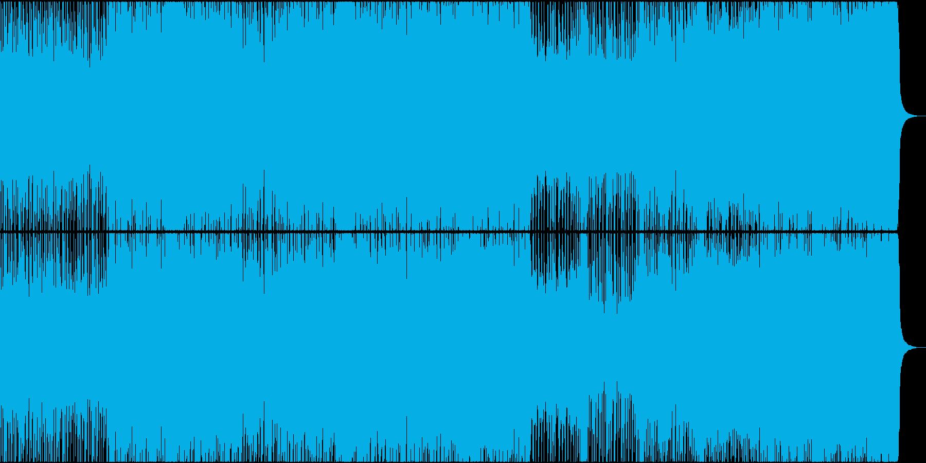 疾走感あるデジタルロックの再生済みの波形