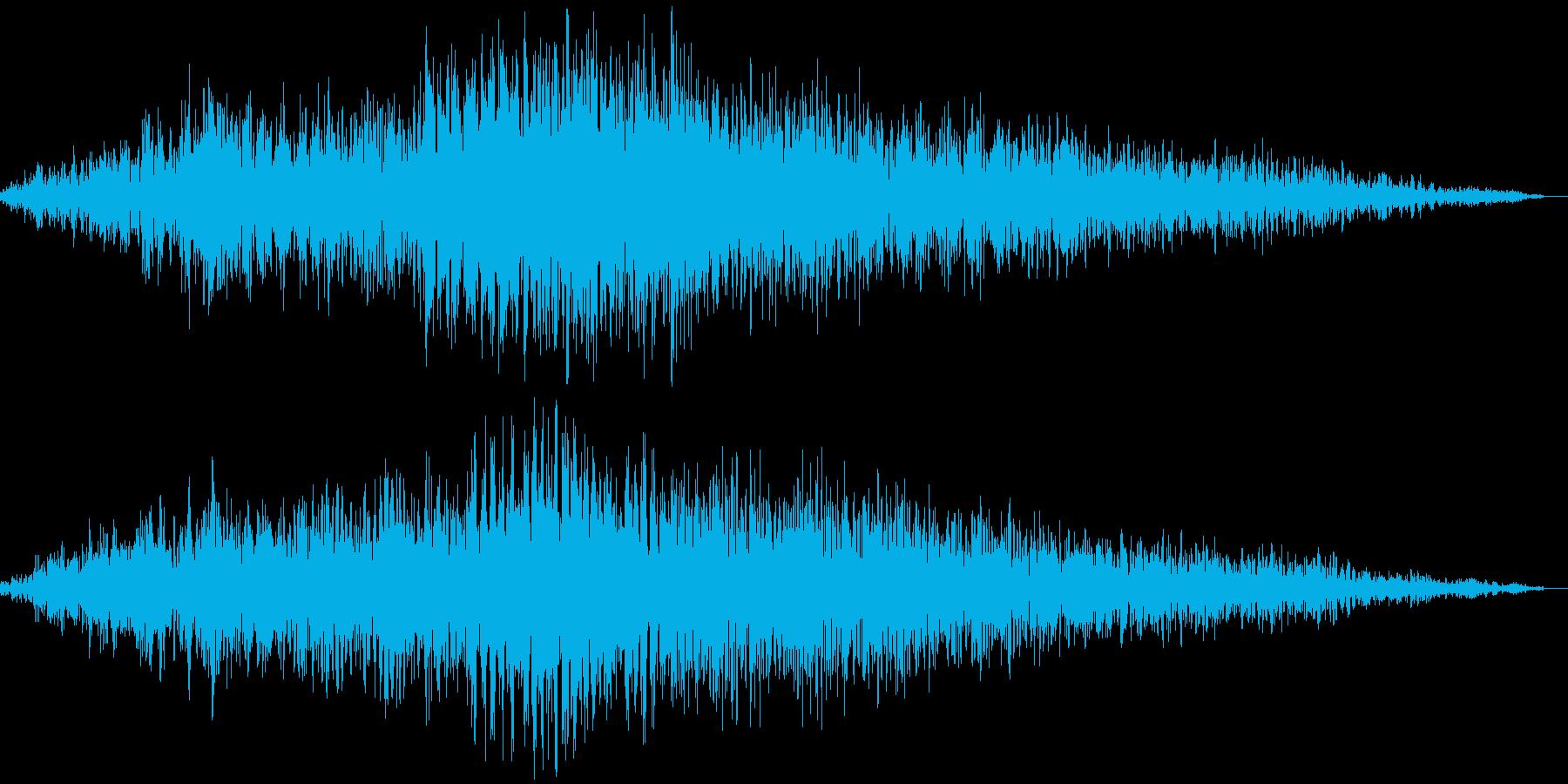 歓声(男女混合)の再生済みの波形