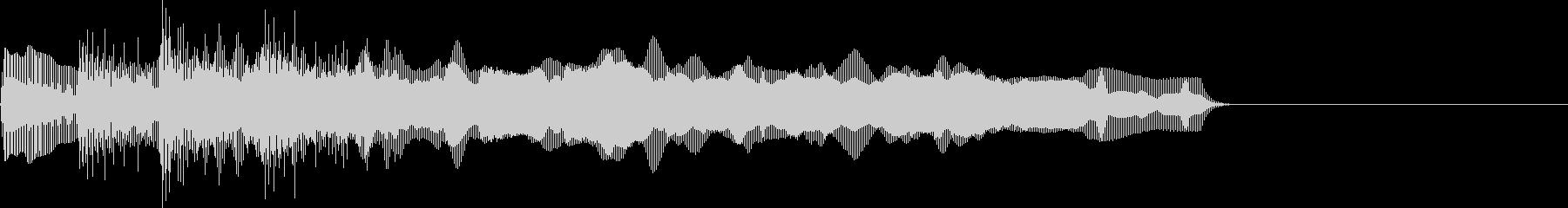 お馴染みのインパクト音!レゲエホーン4回の未再生の波形