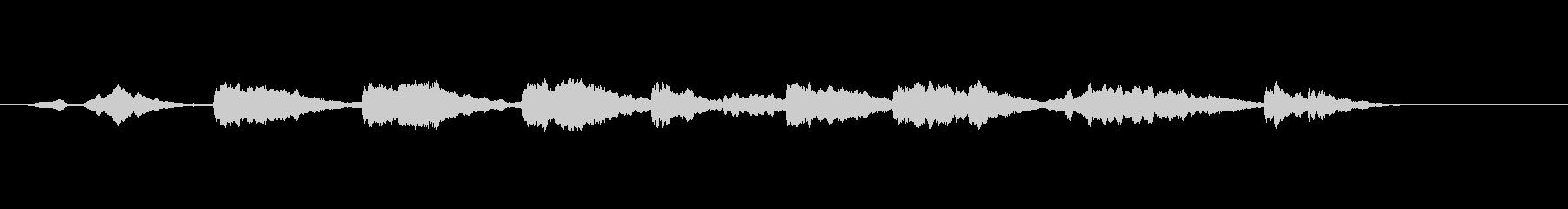 漂うような環境音楽風の未再生の波形