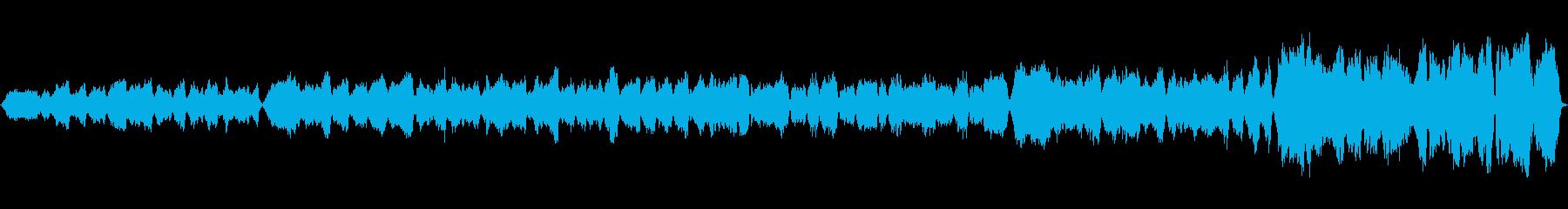 大きく荘厳な宮殿を表したストリングス曲の再生済みの波形