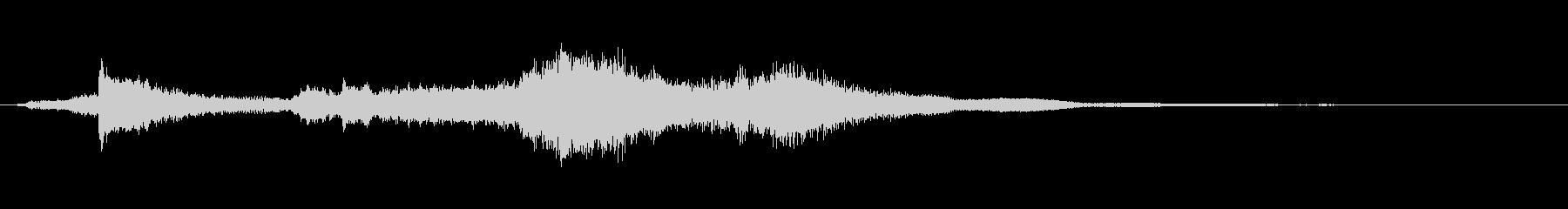 不思議さを演出するときの効果音の未再生の波形