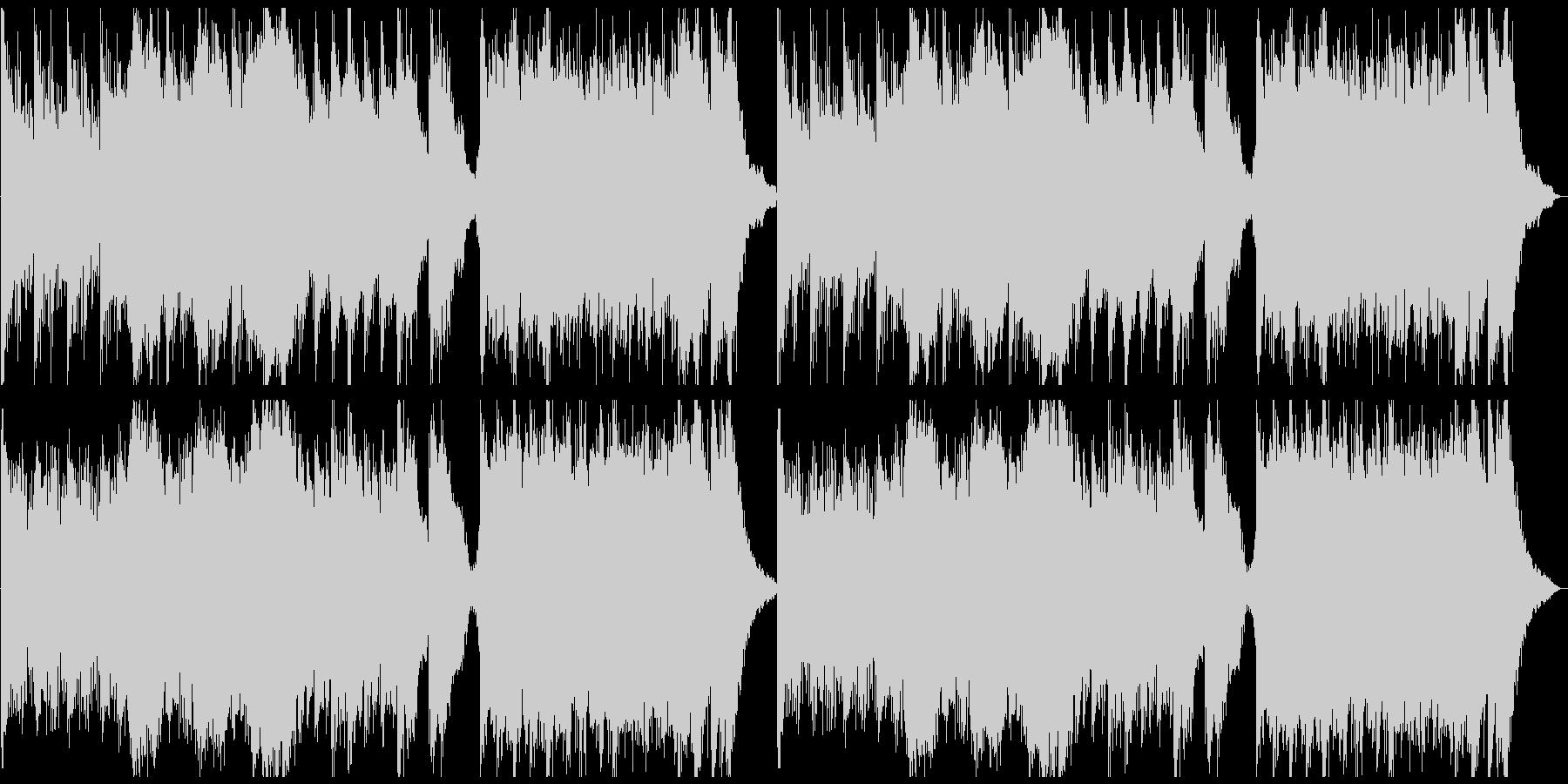 ピアノ&ホラーアンビエントの未再生の波形