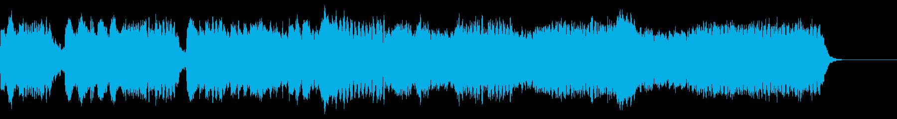 フルートが優しい雰囲気のBGMの再生済みの波形