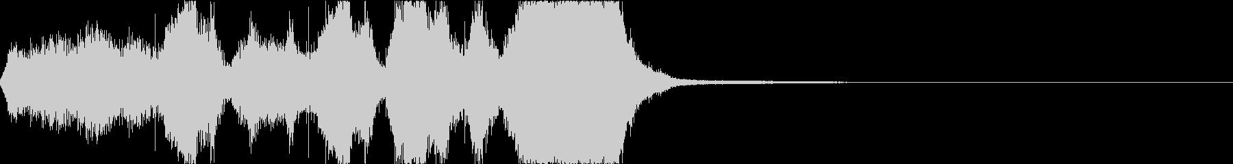 オーケストラによる力強いジングルの未再生の波形